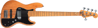 Marcus Miller Jazz Bass® V (Five String), Maple Fretboard, Aged Natural, 3-Ply Black Pickguard